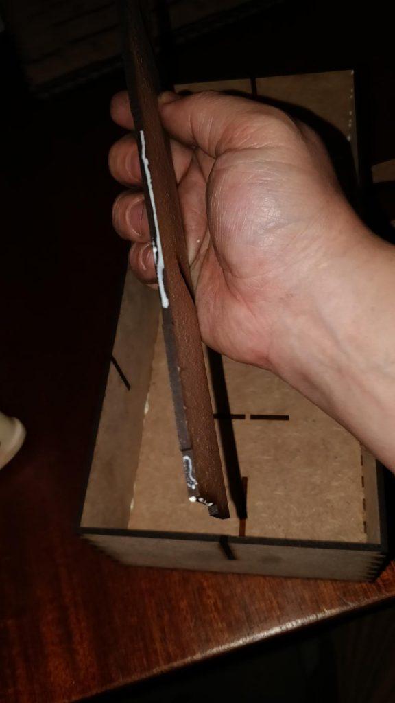 Glue long divider edges