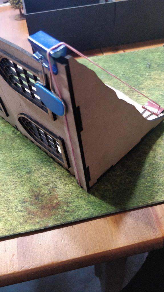 Baseboard clamping